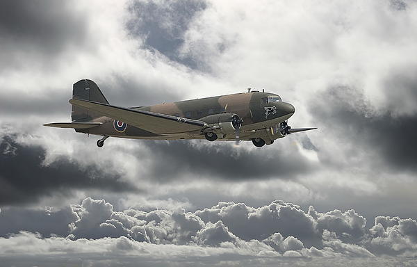 Aircraft Digital Art -   Dc3 Dakota   Workhorse by Pat Speirs
