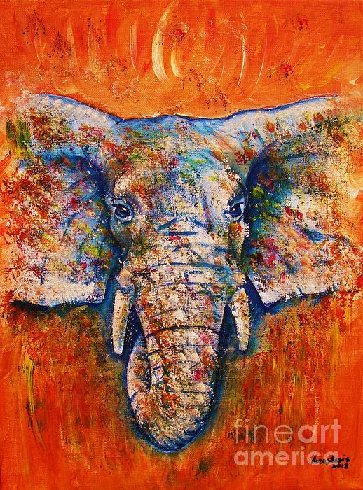 Elephant Painting -  Elephant by Anastasis  Anastasi