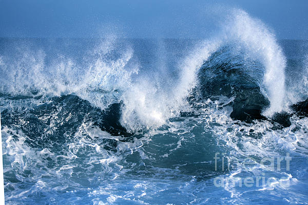 Ocean Photograph -  Ocean Wave by Boon Mee