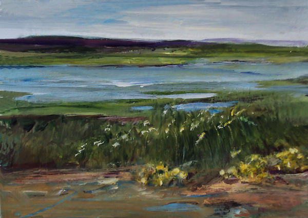 Tide Painting -  Salt Marsh by Diane Ursin
