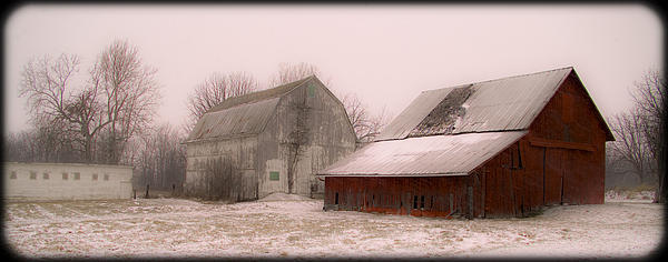 Barn Photograph - 020213-112   Prairie Winter Fantasy II by Mike Davis