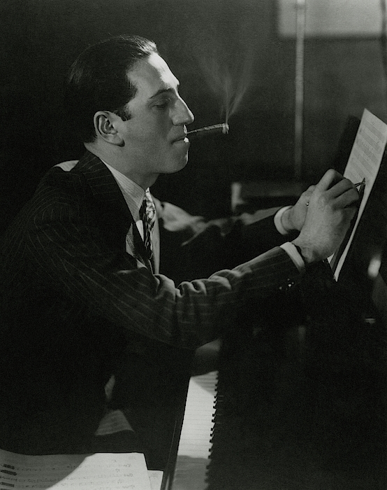A Portrait Of George Gershwin At A Piano Photograph by Edward Steichen
