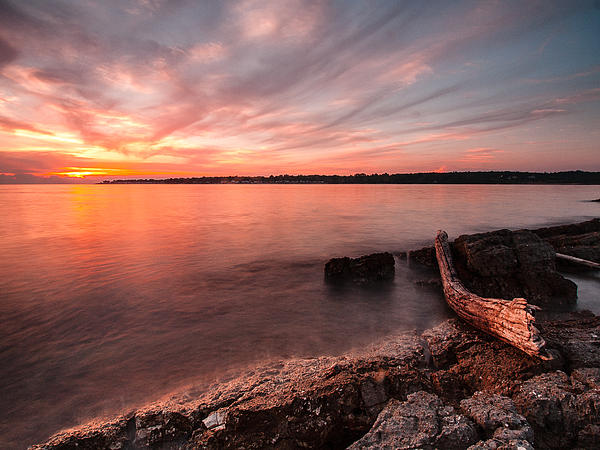Landscapes Photograph - Adriatic Sunset II by Davorin Mance