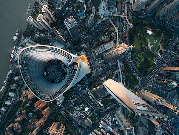 Aerial View Of Shanghai Photograph by Ansonmiao