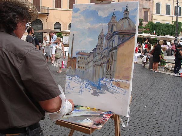 Artist At Work Rome Photograph by Ylli Haruni