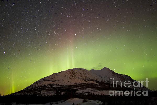 Horizontal Photograph - Aurora Borealis And Milky Way by Joseph Bradley