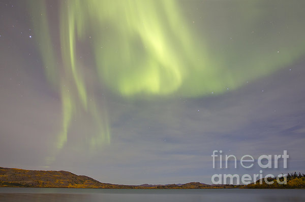 Horizontal Photograph - Aurora Borealis With Big Dipper by Joseph Bradley
