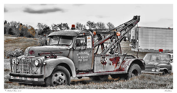 Automobile Photograph - Break Down by Richard Bean
