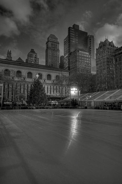 Building Photograph - Christmas In Bryant Park by Mike Horvath