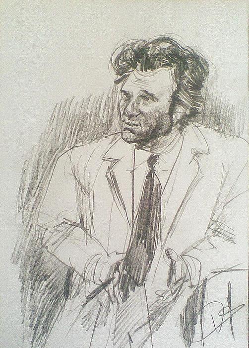 Portrait Pastel - Columbo by Vaidos Mihai