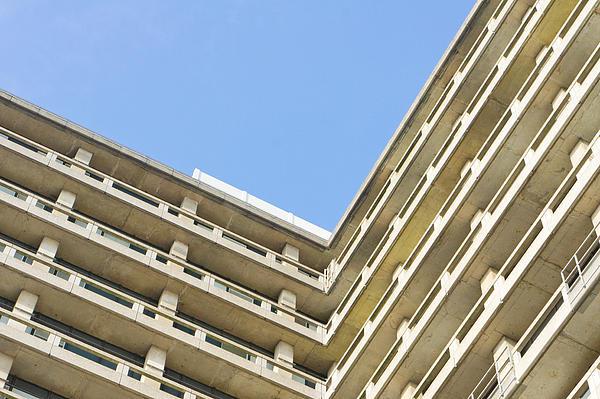 60s Photograph - Concrete Building by Tom Gowanlock