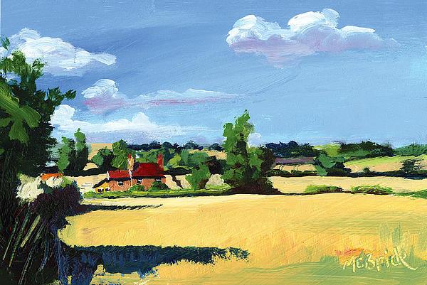 Farm Painting - Crayke Farm North Yorkshire by Neil McBride