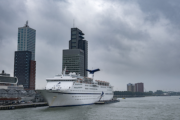 Cruise Ship Ms Magellan Moored In The Port Of Rotterdam, The Netherlands 1 Photograph by Sjo