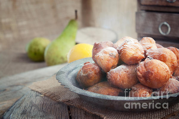 Baked Photograph - Deep Fried Fritters Donuts by Mythja  Photography