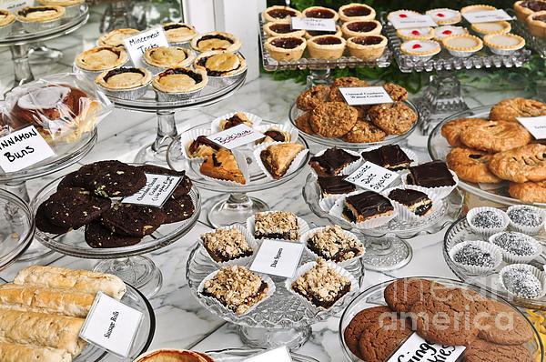 Dessert Photograph - Desserts In Bakery Window by Elena Elisseeva