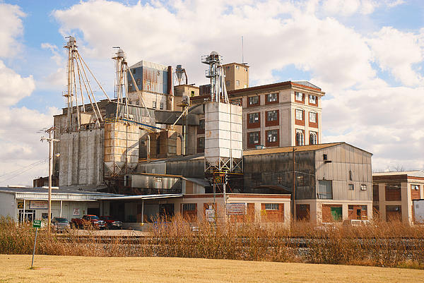 Feed Mill Photograph - Feed Mill by Charles Beeler
