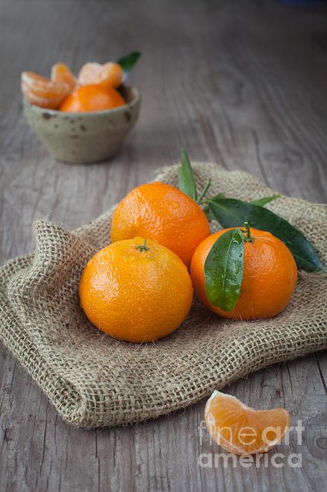 Tangerine Photograph - Fresh Tangerine by Sabino Parente