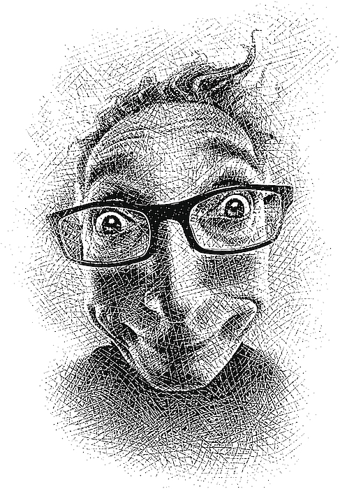 Funny Face Drawing by GeorgePeters