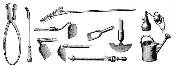Gardening Equipment Drawing by Nastasic