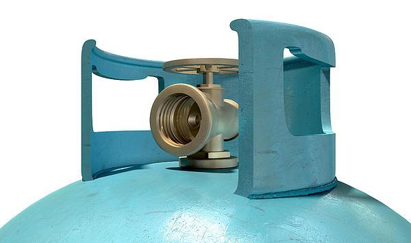 Gas Digital Art - Gas Cylinder Valve Closeup by Allan Swart