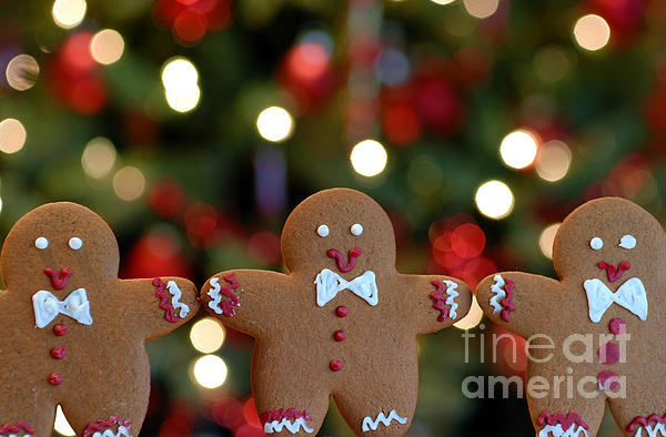 Arms Out Photograph - Gingerbread Men In A Line by Amy Cicconi