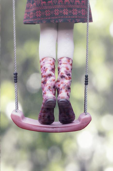 Girl Photograph - Girl Swinging by Joana Kruse