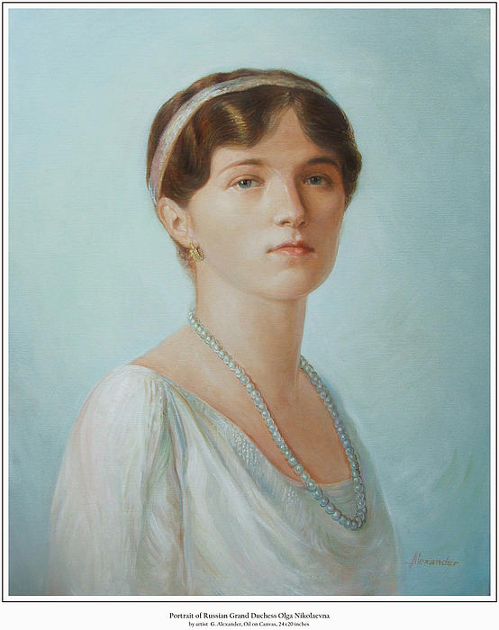 Grand Duchess Olga Painting - Grand Duchess Olga Nikolaevna Of Russia by George Alexander