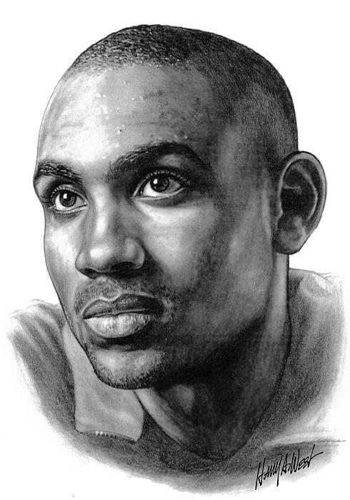Grant Hill Drawing - Grant Hill by Harry West