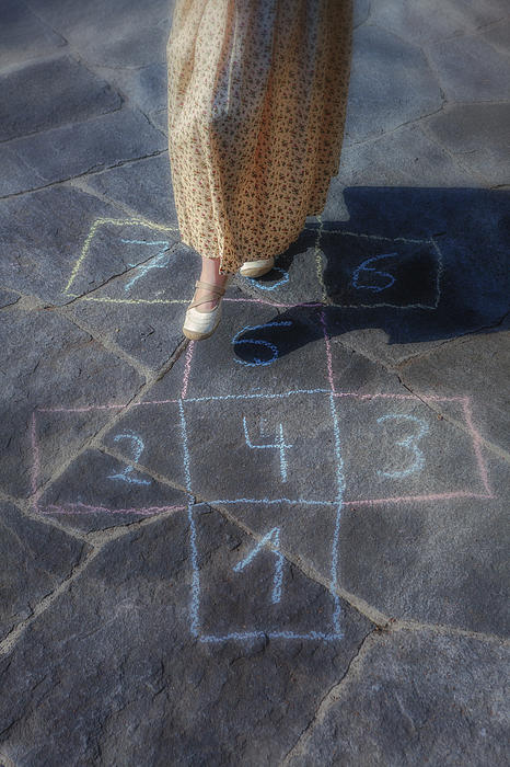 Girl Photograph - Hopscotch by Joana Kruse