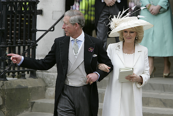 Hrh Prince Charles & Mrs Camilla Parker Bowles Marry At Guildhall Civil Cer Photograph by Georges De Keerle