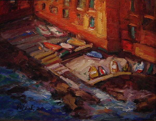 Boats Painting - Imbarcadero by R W Goetting