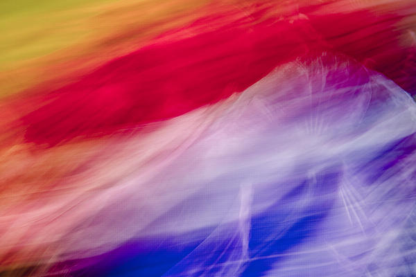 Abstract Flower Photograph - Is It The Flag by Jon Glaser