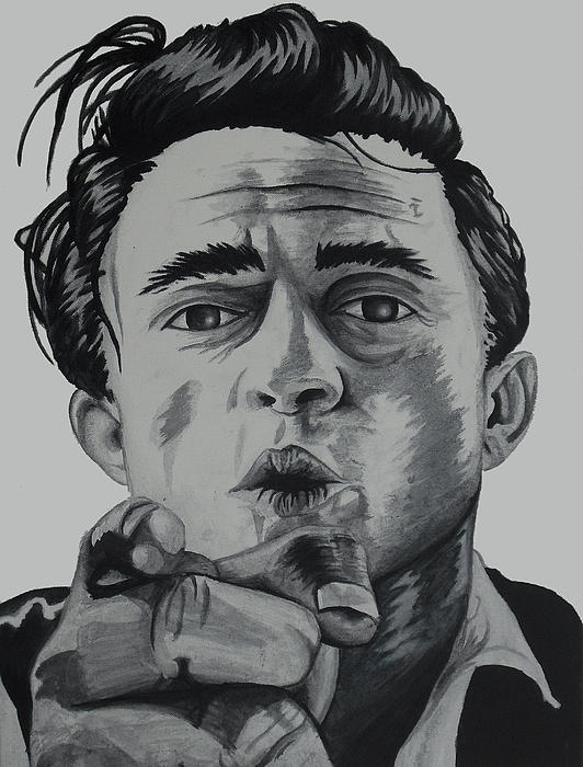 Johnny Cash Painting by Holly Hunt