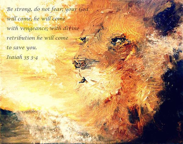 Lion Of Judah Painting - Lion Of Judah Strength by Amanda Dinan