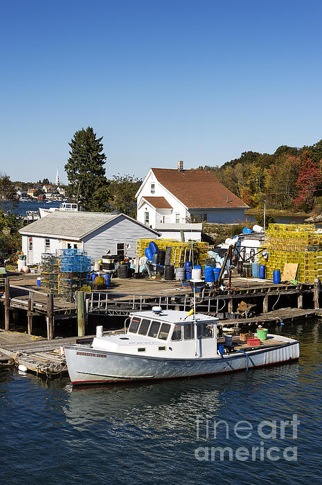 New Castle Photograph - Lobster Boat by John Greim