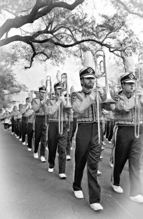 Lsu Photograph - Lsu Marching Band Vignette by Steve Harrington