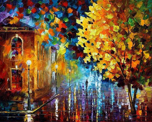 Afremov Painting - Magic Rain by Leonid Afremov