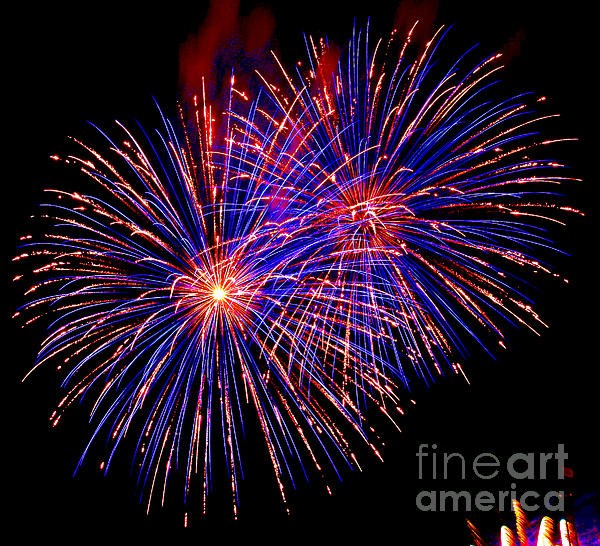 Fireworks Photograph - Most Spectacular Fireworks Selection - Worldwide Championship - Montreal by Emma Lambert