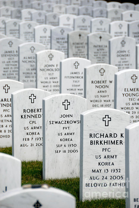 Aligned Photograph - National Cemetery Of The Alleghenies by Amy Cicconi