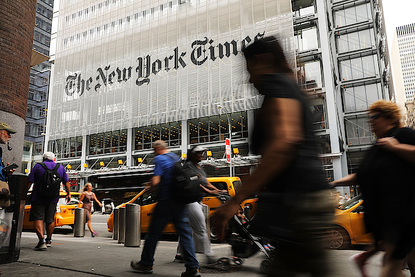 New York Times Posts Strong Quarterly Earnings On Rise In Digital Ads And Readership Photograph by Spencer Platt