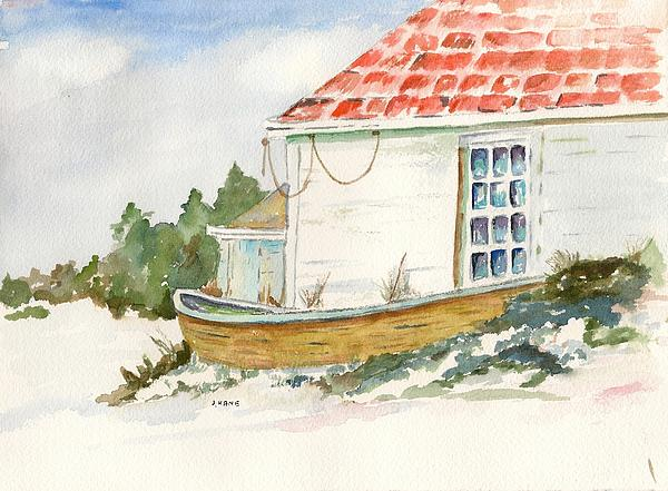 Boat Painting - Off Season by Janet Kane
