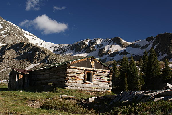 Landscape Photograph - Old Cabin In Rocky Mountains by Michael J Bauer
