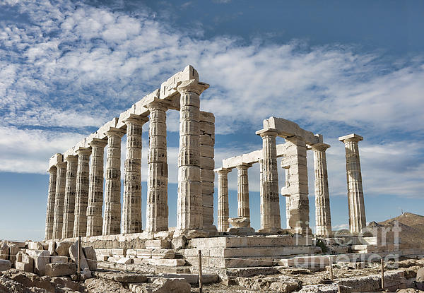 Ancient Photograph - Poseidons Temple by Gabriela Insuratelu