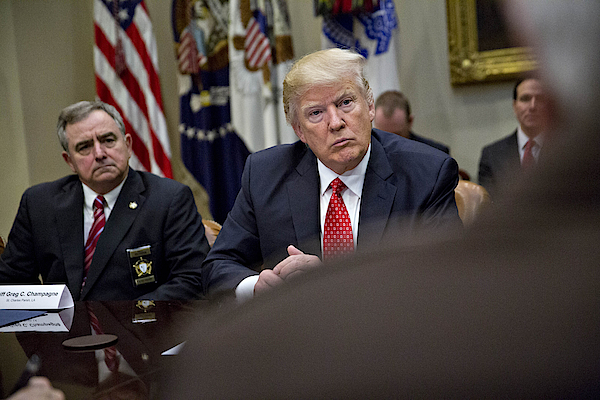 President Trump Holds Listening Session With County Sheriffs Photograph by Pool