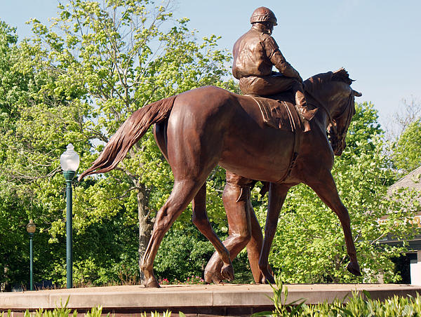 Bronze Horse Photograph - Rider In Bronze by Roger Potts