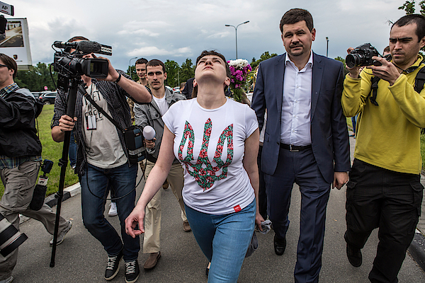 Russia Releases Jailed Ukrainian Pilot Nadiya Savchenko Photograph by Brendan Hoffman