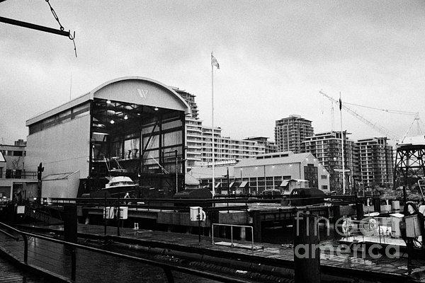 Seaspan Photograph - seaspan marine tugboat dock city of north Vancouver BC Canada by Joe Fox