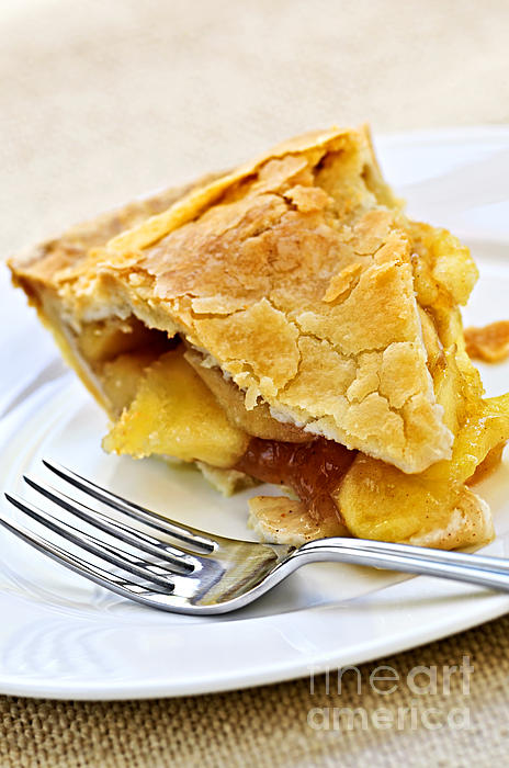 Pie Photograph - Slice Of Apple Pie by Elena Elisseeva