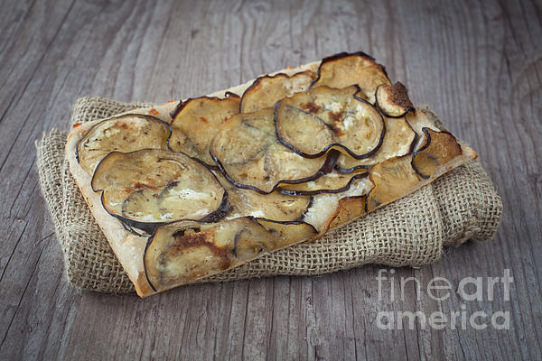 Background Photograph - Sliced Pizza With Eggplants by Sabino Parente