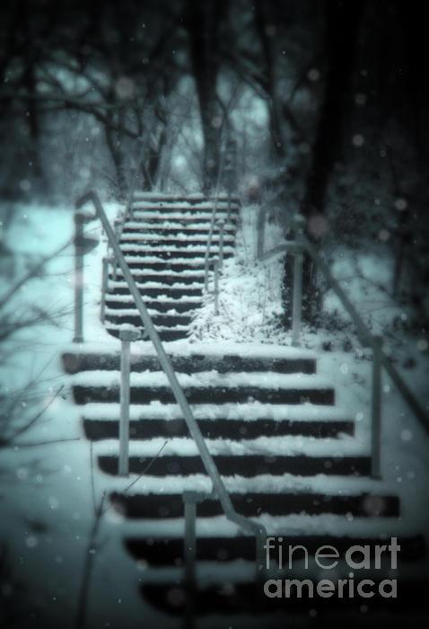 Stairway Photograph - Snowy Stairway by Jill Battaglia